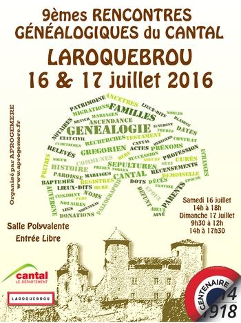 Affiche Laroquebrou 2016
